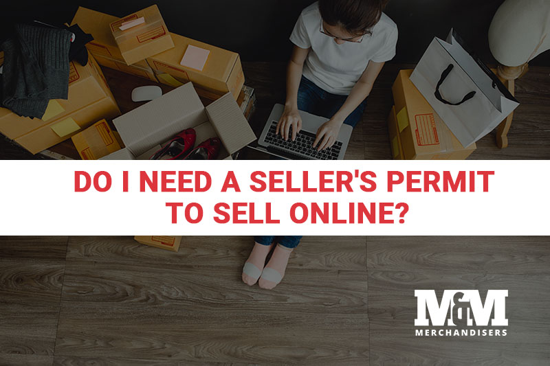 person selling goods online